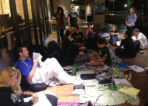 4. Sit-Out Library Protest GÇô University of South Florida, USA