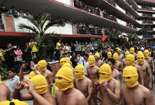 5. Naked Yellow Balaclava Protest GÇô Polytechnic University of the Philippines, Manila, Philippines