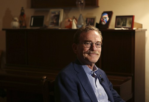 Schekman, a professor at the University of California at Berkeley, attends an interview at his home in El Cerrito