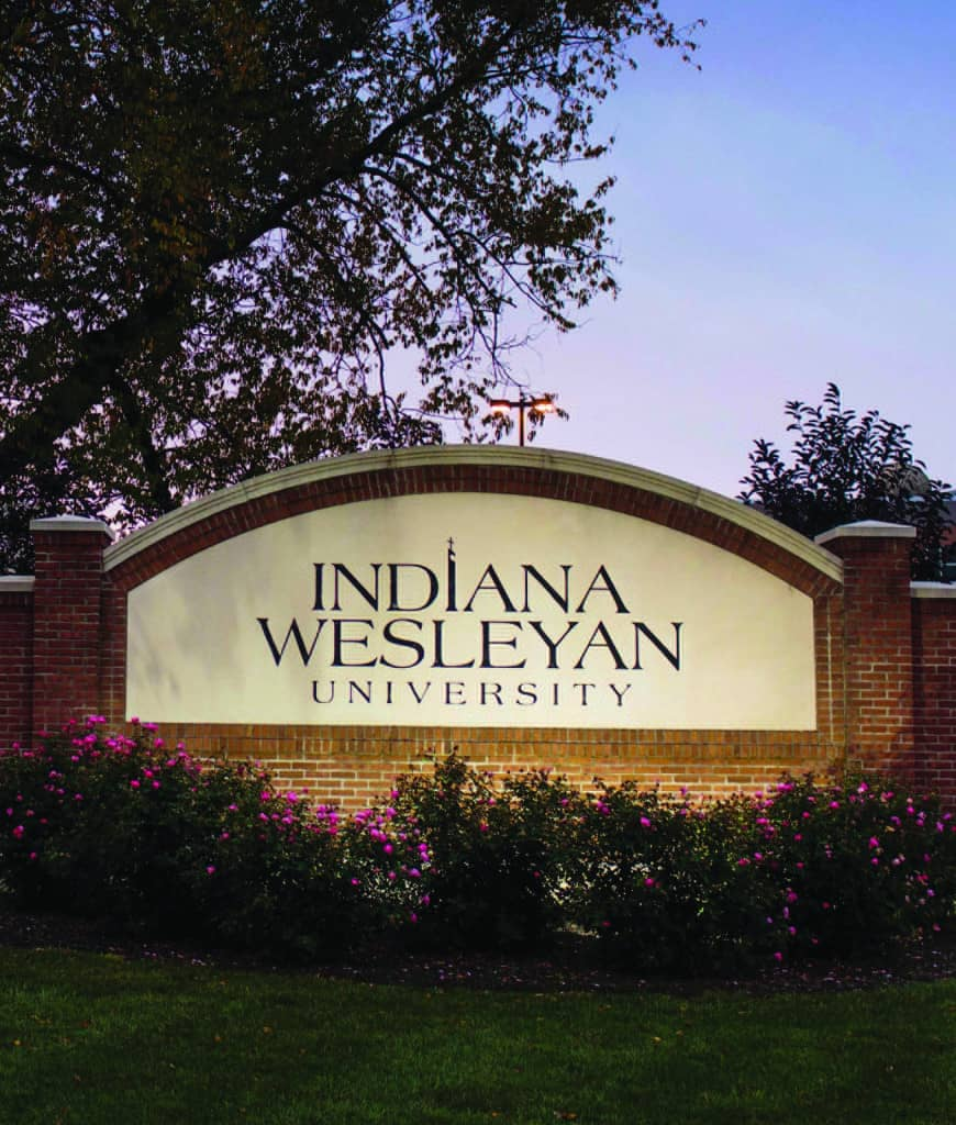 Indiana Wesleyan Entry Sign