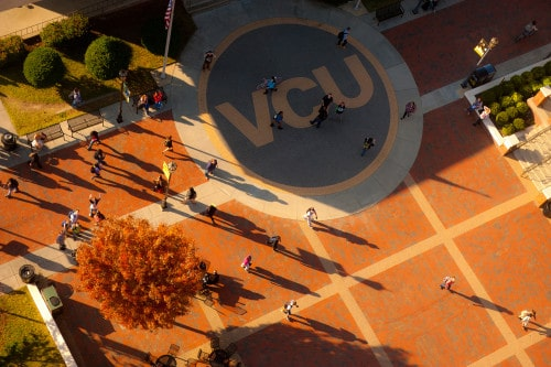 Monroe Park campus aerial