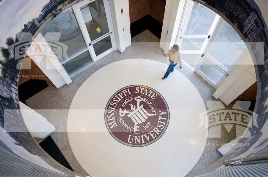 MSU Seal at Union entrance